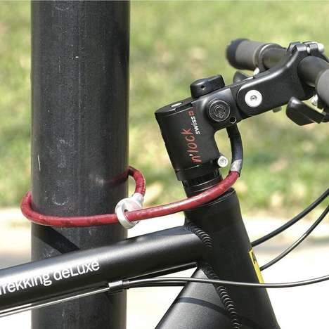 The N'Lock Bicycle Lock Secures Your Ride from Dangerous Trespassers