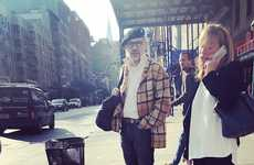 Fashionable Grandfather Photography - Christina Belchere Photographs Fashionable Grandpas in NYC
