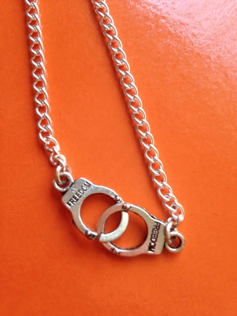Cuffed Convict Necklaces - These Handcuff Necklaces are Reminiscent of the Character Piper Chapman