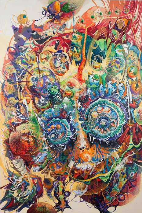 Psychedelic Hodgepodge Paintings