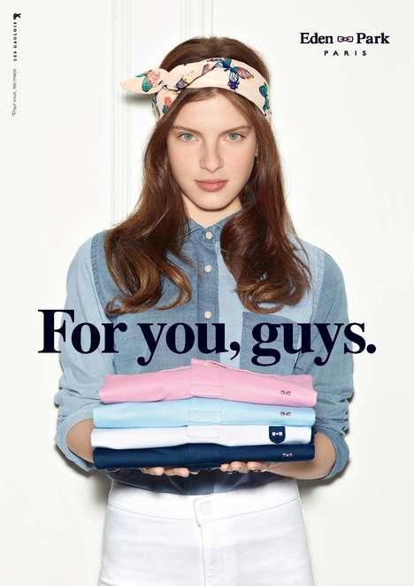 Girlfriend-Centered Menswear Ads