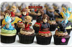 Cinematic Dragon Cupcakes - These Fantasy Confectionaries Celebrate How to Train Your Dragon 2