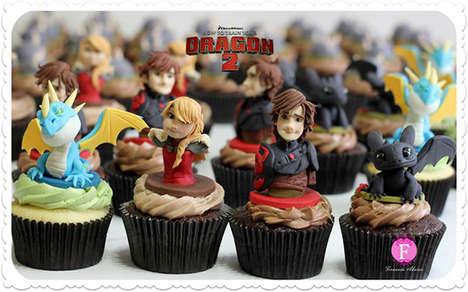 Cinematic Dragon Cupcakes