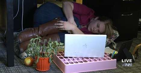 Office Furniture Spoofs - The Fetal Position Desk Addresses Health Concerns About Sitting All Day