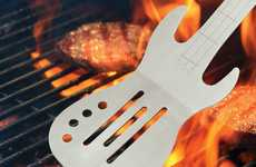 Musical BBQ Spatulas - The Electric Guitar Spatula Will Give Your Barbecues Iconic Status