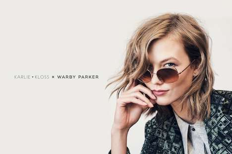 Model-Designed Sunnies - The Karlie Kloss x Warby Parker Sunglasses is Timelessly Feminine