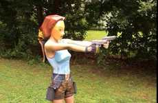 8-Bit Heroine Cosplay - Carla Croft Brought the Gaming Realm to Life with Her Lara Croft Costume