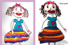 Custom Plush Toys - These Customized Dolls are Made From your Little One's Artwork