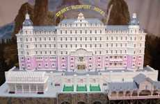 Block-Built Fictional Hotels - The LEGO Grand Budapest Hotel is as Delightful as the Original