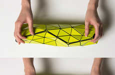 Collapsible Origami Clutches