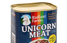 Canned Mythical Meats - This Canned Unicorn Meat is an Excellent Source of Sparkles