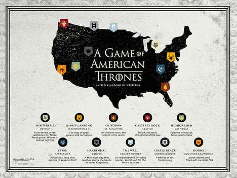 Patriotic Fantasy Maps