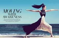 Beachside Yoga Editorials - Alla Kostromichova Stars in Harper's Bazaar Vietnam Editorial