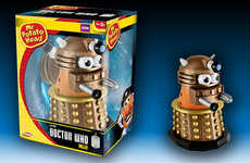 Sci-Fi Spud Toys - This Galactic Potato Head Cleverly Redesigns the Famous Dr Who Character