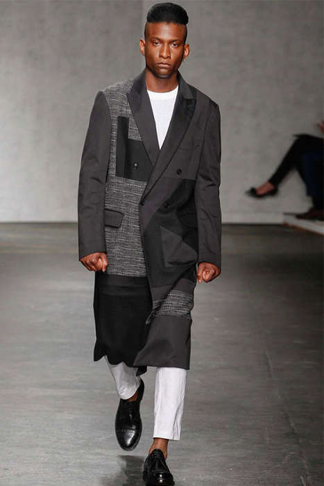 Deconstructed Silhouette Menwear - The Casely-hayford Ss 2015 Plays with Size and Shape