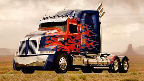 Autobot Car Ride Campaigns - Ride Share Service Uber Now Offers Rides by Optimus Prime Truck
