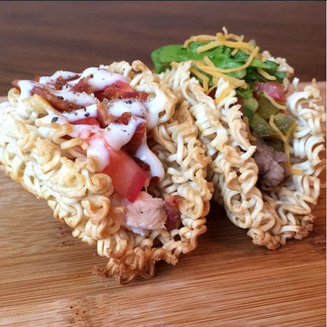 Crispy Ramen Tacos - These Delicious Noodle Tacos Fuse Together Japanese and Mexican Cuisine