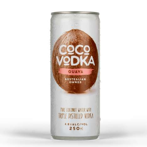 Alcoholic Coconut Water - Coco Vodka is a Tropical Drink That Combines Coconut Water and Vodka