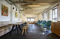 Brewery-Transformed Offices - The Soundcloud Space in Berlin Use to be a Spot for Drinking