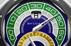 Sporty Brazilian Watches - Bulgari's World Cup Watch Celebrates Brazil as the 2014 Host Country