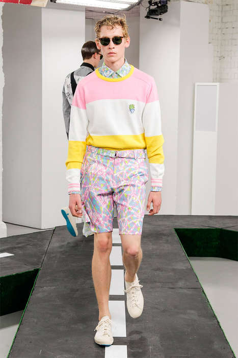 Charming Candy-Colored Menswear - The Kit Neale Spring/Summer 2015 Collection is