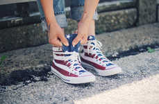 DIY Americana Footwear - Kick Off July 4th Celebrations with These Painted American Flag Sneakers