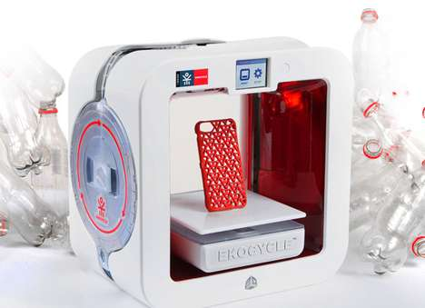Plastic-Repurposing Printers - The Ekocycle Cube Uses Plastic Filaments to Print Things in 3D