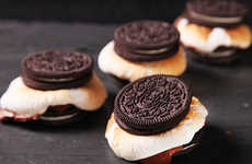 Cookie Campfire Confectioneries - These S'moreos Cleverly Replace Graham Crackers with Oreos