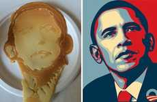 Presidental Pancake Portraits - This Pancake by Pancake Bot Looks Like The USA's President