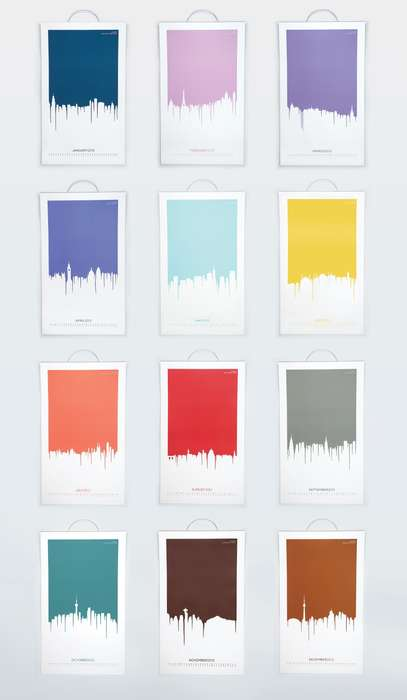 Paint-Dripping Cityscape Calendars