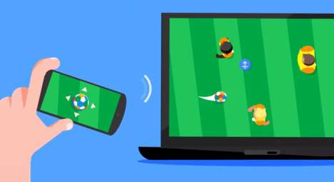Multi-Device Soccer Games - Google's Kick with Chrome Virtual Soccer Games Celebrate the World Cup