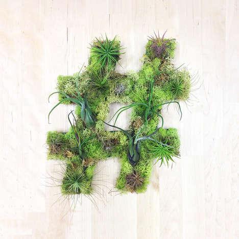 Keyboard Symbol Plant Sculptures