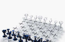 Luxe Strategy Game Sets - The Harcourt Chessboard by Nendo Features Crystal Elements