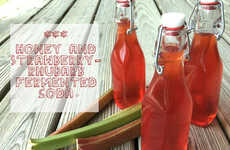 Fermented Fruit Sodas - This Strawberry Rhubarb Soda Can be Made in the Comfort of Your Own Home