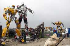 Giant Alien Robot Sculptures - Factory Owner Li Lei is Building Life-Size Transformers