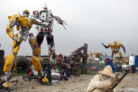 Giant Alien Robot Sculptures