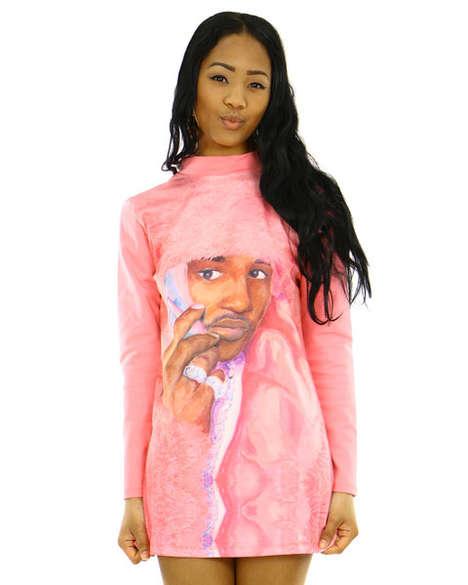 Rose-Hued Rapper Couture
