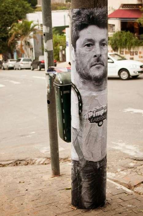 Trash Backpack Street Art