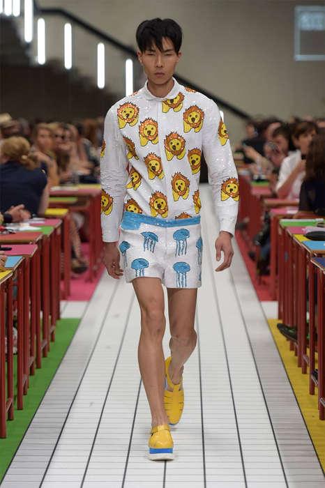 Boyishly Printed Menswear