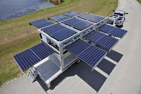Pop-Up Solar Generators - This Shipping Container Turns Into a Massive Mobile Solar Power Station
