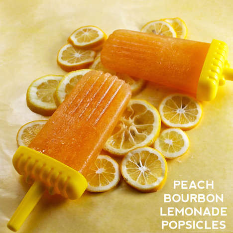 Frozen Booze Recipes - These DIY Peach Bourbon Lemonade Popsicles Combine the Best of Summer
