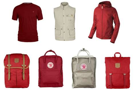 Outdoorsy Red-and-White Apparel