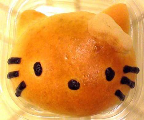 Cartoon Feline Pastries