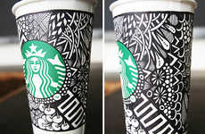 Artful Cup Design Contests - Starbucks' White Cup Contest Challenged Customers to Make Art on Cups