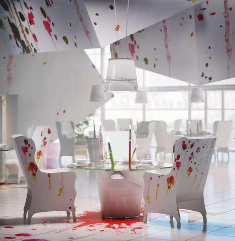 Paint-Splattered Bistros