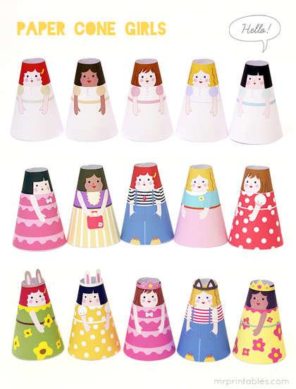 DIY Paper Doll Crafts