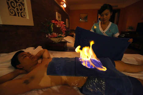 Unconventional Heat Treatments - Fire Dragon Therapy Literally Sets Patients on Fire