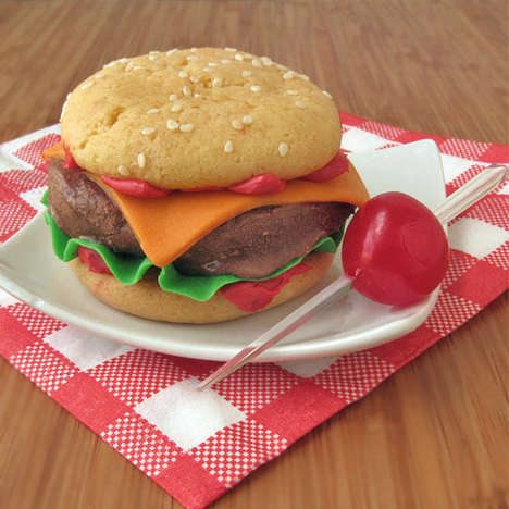 Chilly Cheeseburger Confectionaries - These Burger Ice Cream Sandwiches are a Delicious Dessert Item