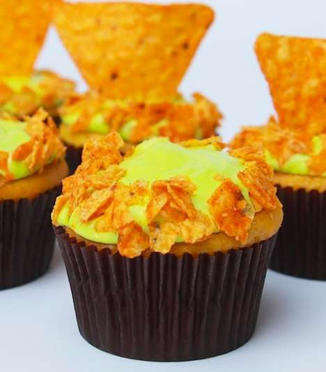 Savory Soda Cupcakes - YouTuber Rosanna Pansino Tests Out the Mountain Dew Doritos Chip Cupcakes