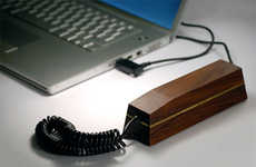 Eco-friendly VoIP Phones - The Pappa Phone by Hulger